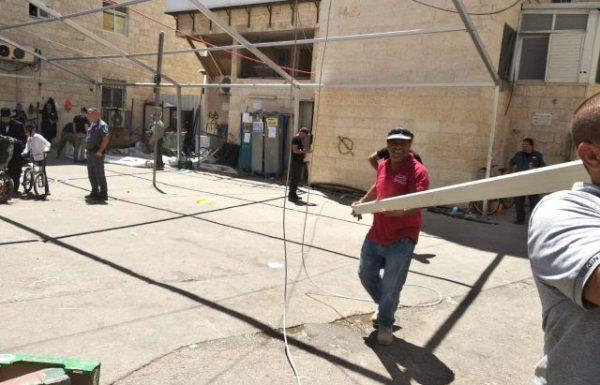 עיריית ירושלים פירקה לאליעזר ברלנד את בית הכנסת (סרוגים)