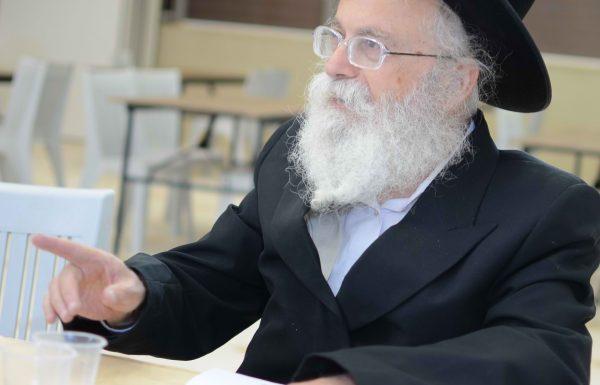 הגאון ר' שמואל דוד גרוס- לא ללכת לשיעור של ברלנד באשדוד ולא להפריע למפגינים נגד ברלנד