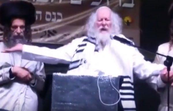 אליעזר ברלנד בעוד התפרצות פסיכוטית והפעם על הבמה באלעד (צפו)