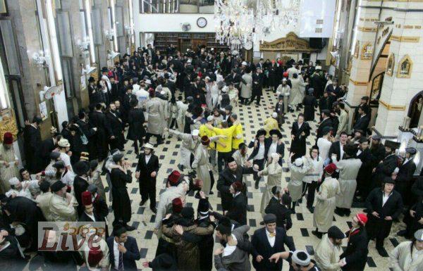 שמחת פורים בבית הכנסת 'נחלת חן' ובית הכנסת המרכזי 'השוהל' במאה שערים (גלריה)